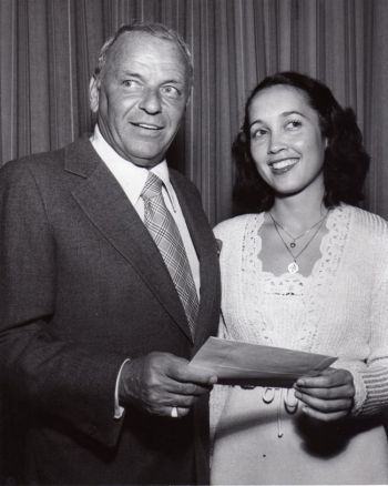 Frank Sinatra Presents Julie Jordan with First Prize Classical Music Performance Award at UCLA's Royce Hall Celebration Concert